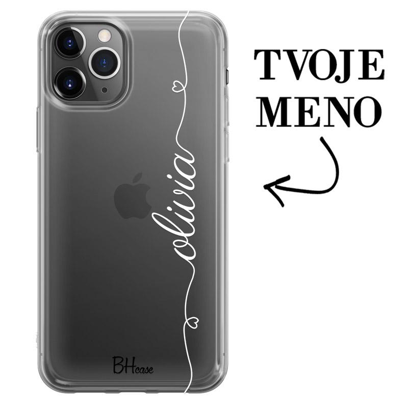 Kryt so srdiečkom a menom pre iPhone 11 Pro Max