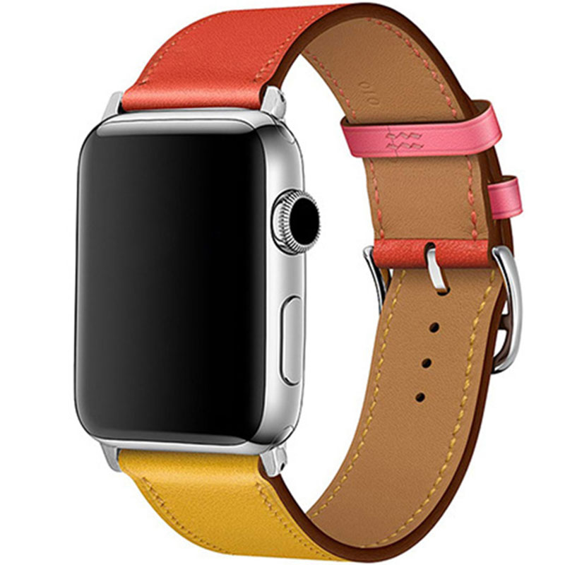Kožený Remienok Apple Watch 42/44mm Ambre Capucine