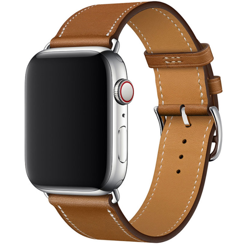 Kožený Remienok Apple Watch 42/44mm Brown