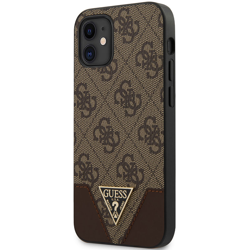 Guess 4G Triangle Brown Kryt iPhone 12 Mini