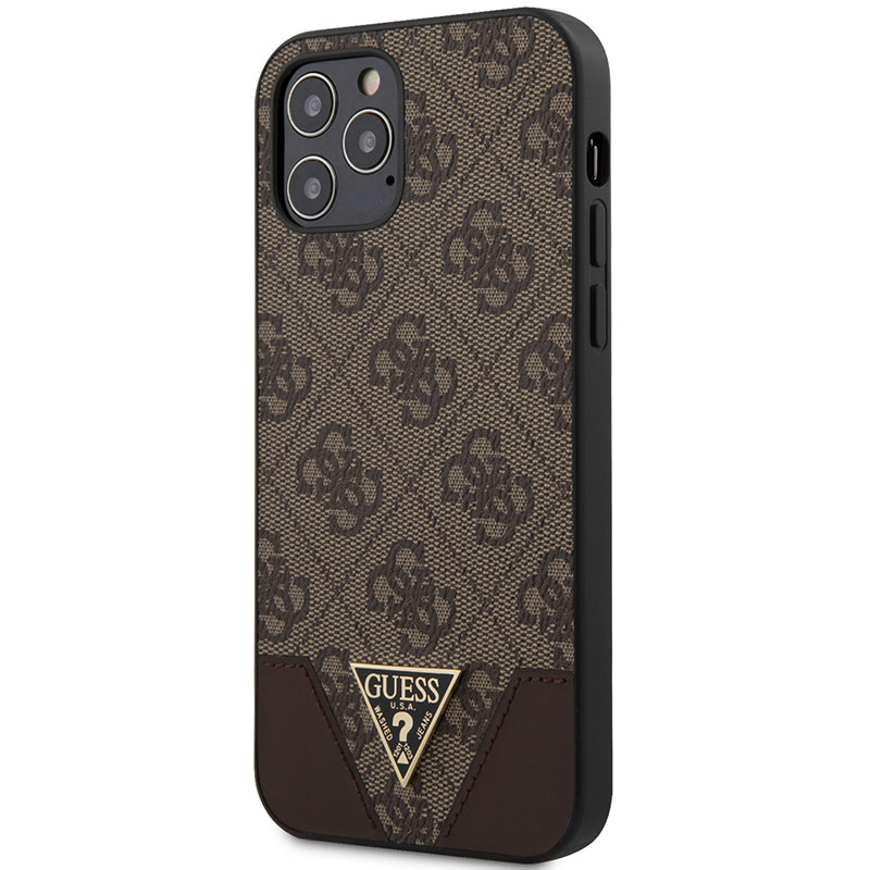 Guess 4G Triangle Brown Kryt iPhone 12/12 Pro