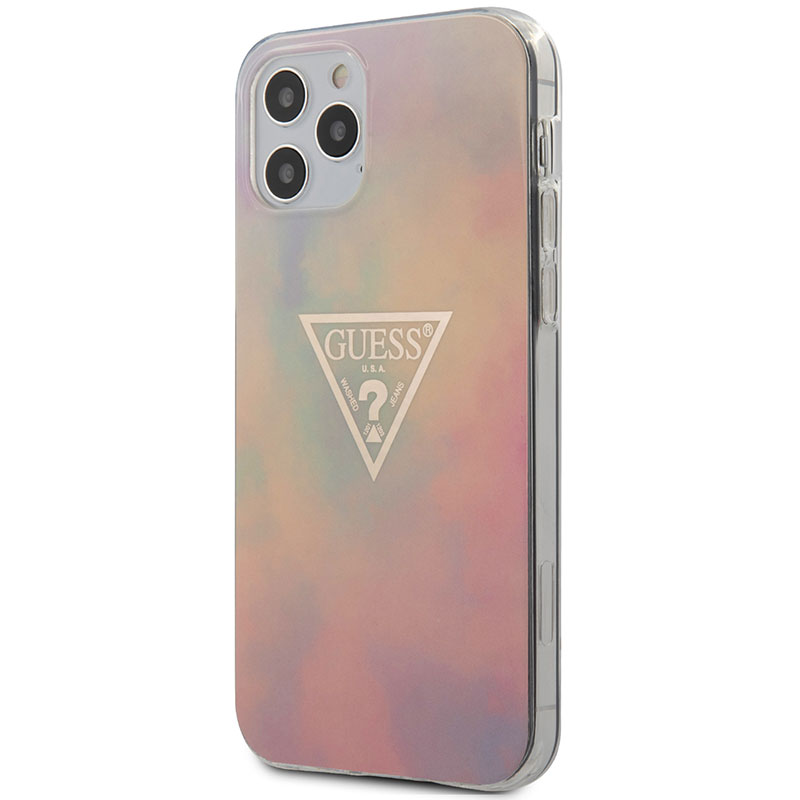 Guess TPU Gold Triangle Pink Kryt iPhone 12/12 Pro