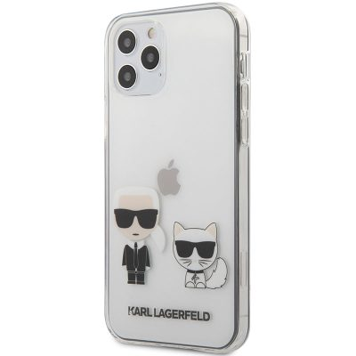 Karl Lagerfeld Karl and Choupette TPU Transparent Kryt iPhone 12/12 Pro