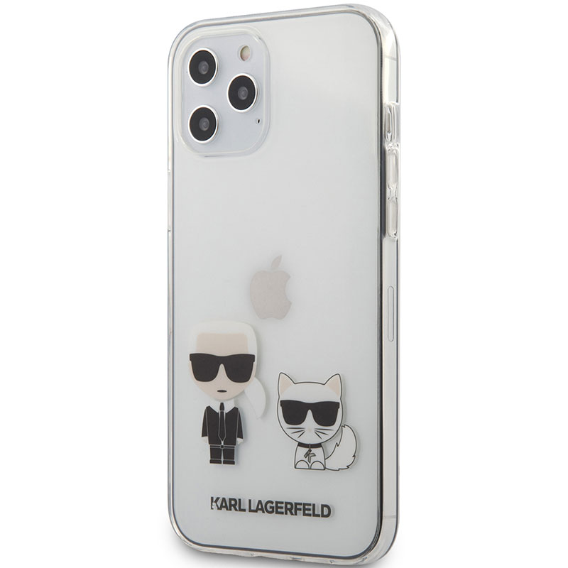 Karl Lagerfeld Karl and Choupette TPU Transparent Kryt iPhone 12 Pro Max