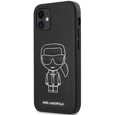 Karl Lagerfeld PU Embossed White Kryt iPhone 12 Mini
