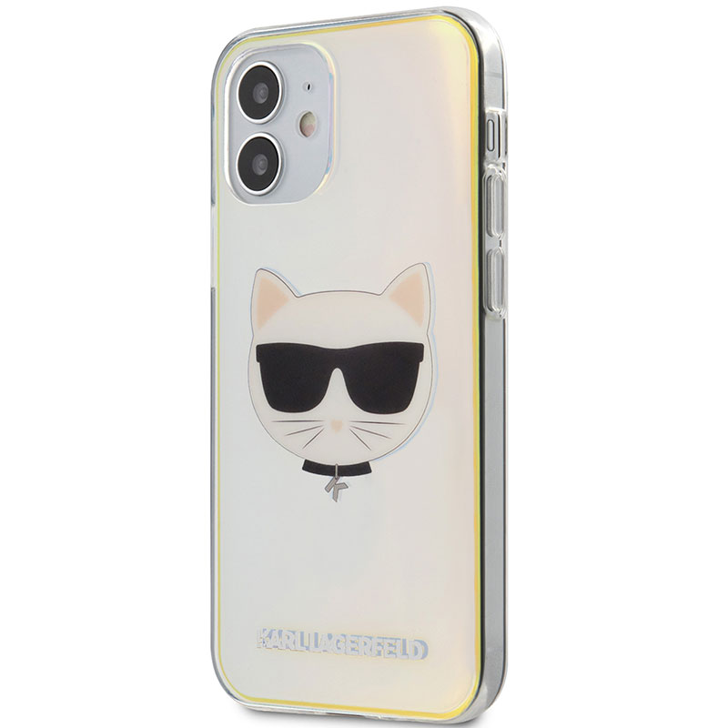 Karl Lagerfeld TPU Choupette Head Iridescent Kryt iPhone 12 Mini