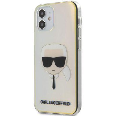 Karl Lagerfeld TPU Head Iridescent Kryt iPhone 12 Mini
