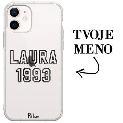 Kryt s menom a číslom pre iPhone 12 Mini