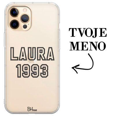 Kryt s menom a číslom pre iPhone 12 Pro Max