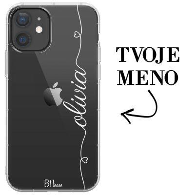Kryt so srdiečkom a menom pre iPhone 12 Mini