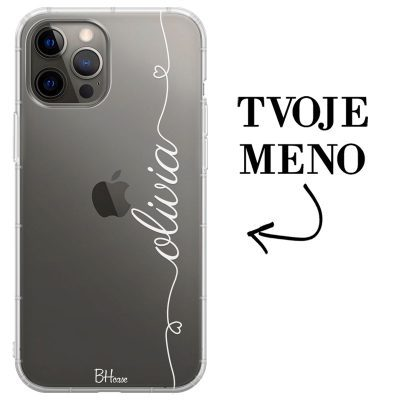Kryt so srdiečkom a menom pre iPhone 12 Pro Max